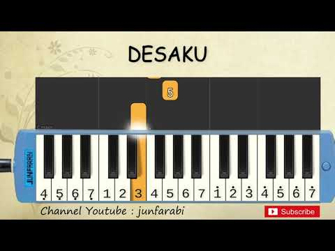 Not Pianika Desaku - Tutorial Belajar Pianika Lagu Anak - Not Angka Desaku