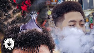 Afro Flat top hairstyle & Premlock hairstyle | Liem Barber Shop