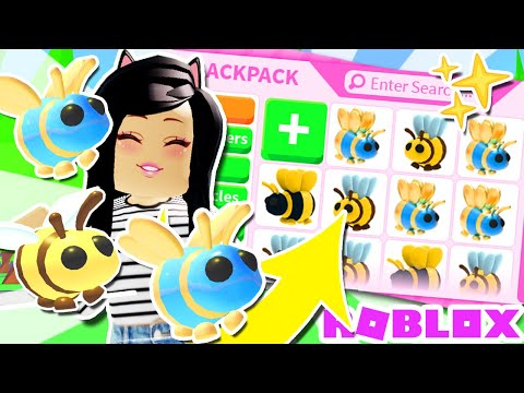 Spending ALL My ROBUX On 🐝BEE PETS🐝 in ADOPT ME! Roblox UPDATE LEGENDARY Queen King ROBUX