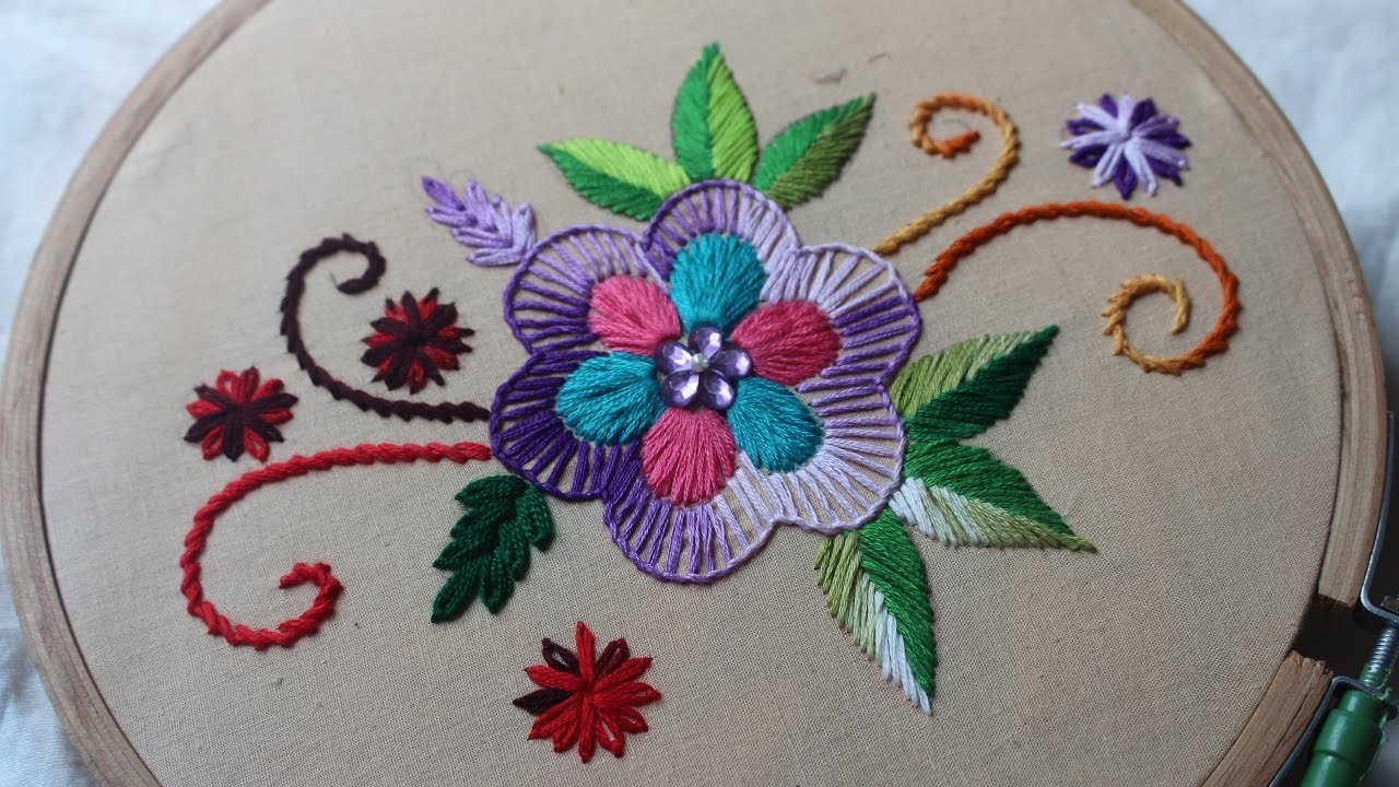 embroidery designs handmade  Hand Embroidery Designs | Basic design tutorial | Stitch and Flower ...