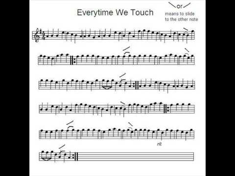 Violin Everytime We Touch - YouTube