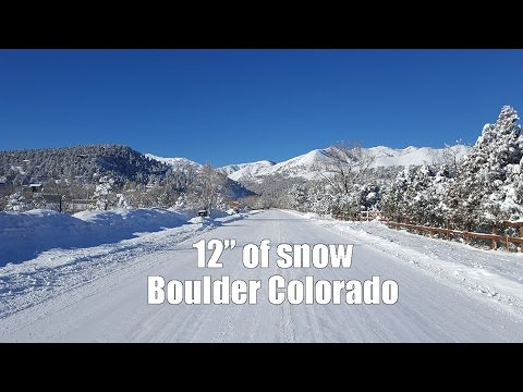 "12"" Snow Boulder Colorado ( dash cam )"