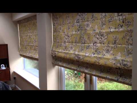 Motorised Roman blinds with smart phone control - Solo iBlinds; by Solo Blinds