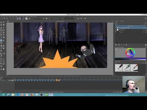 Secondary animation with Krita
