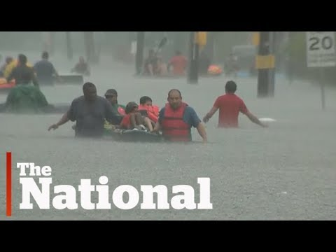 Houston flooded by Tropical Storm Harvey