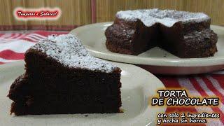 TORTA DE CHOCOLATE CON SOLO 2 INGREDIENTES ESTILO MOUSSE SIN HORNO EXTRAORDINARIA