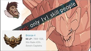 BRONZE 4 ONLY 1v1 SKILL PEOPLE- Bronze Spectates 19
