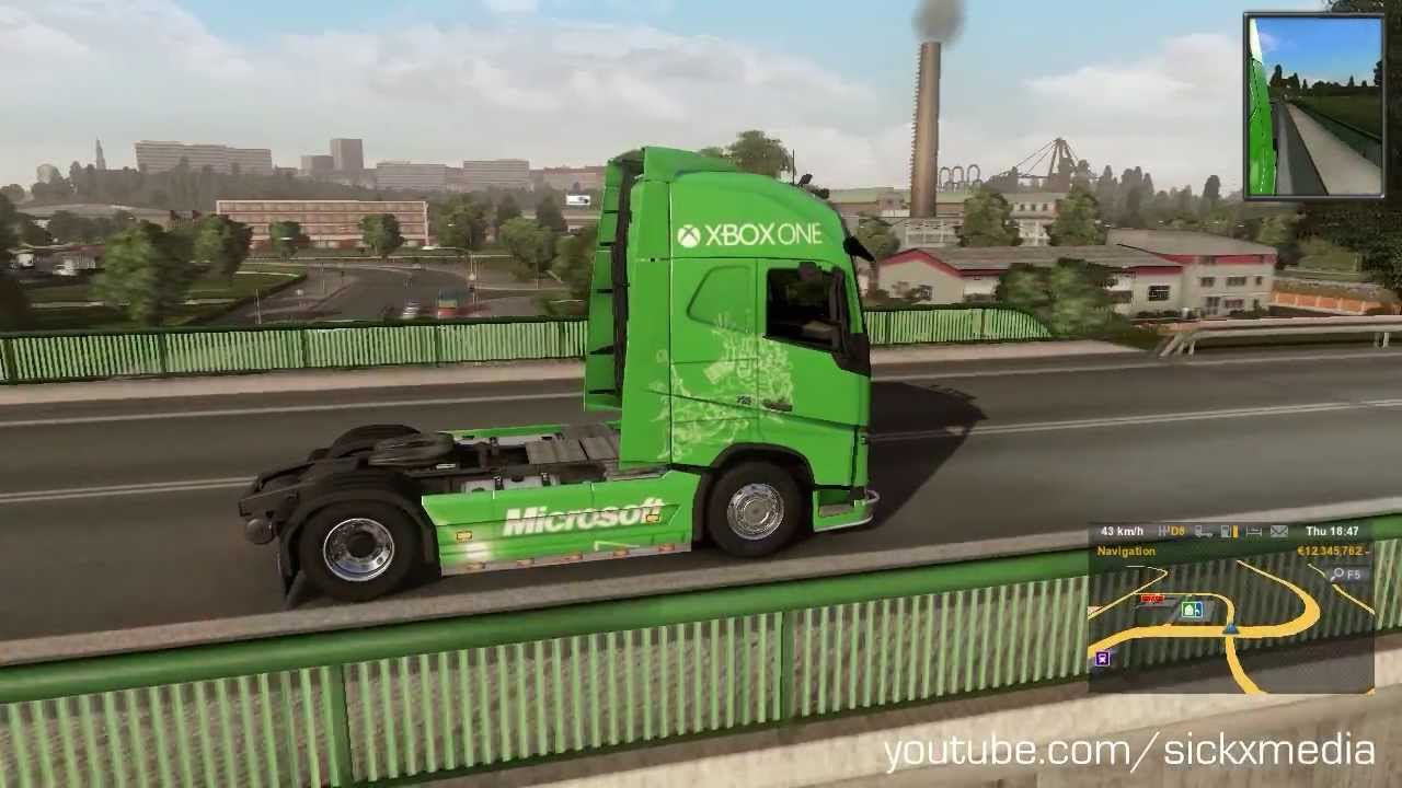 sickxmedia euro truck simulator 2 new volvo xbox one. Black Bedroom Furniture Sets. Home Design Ideas