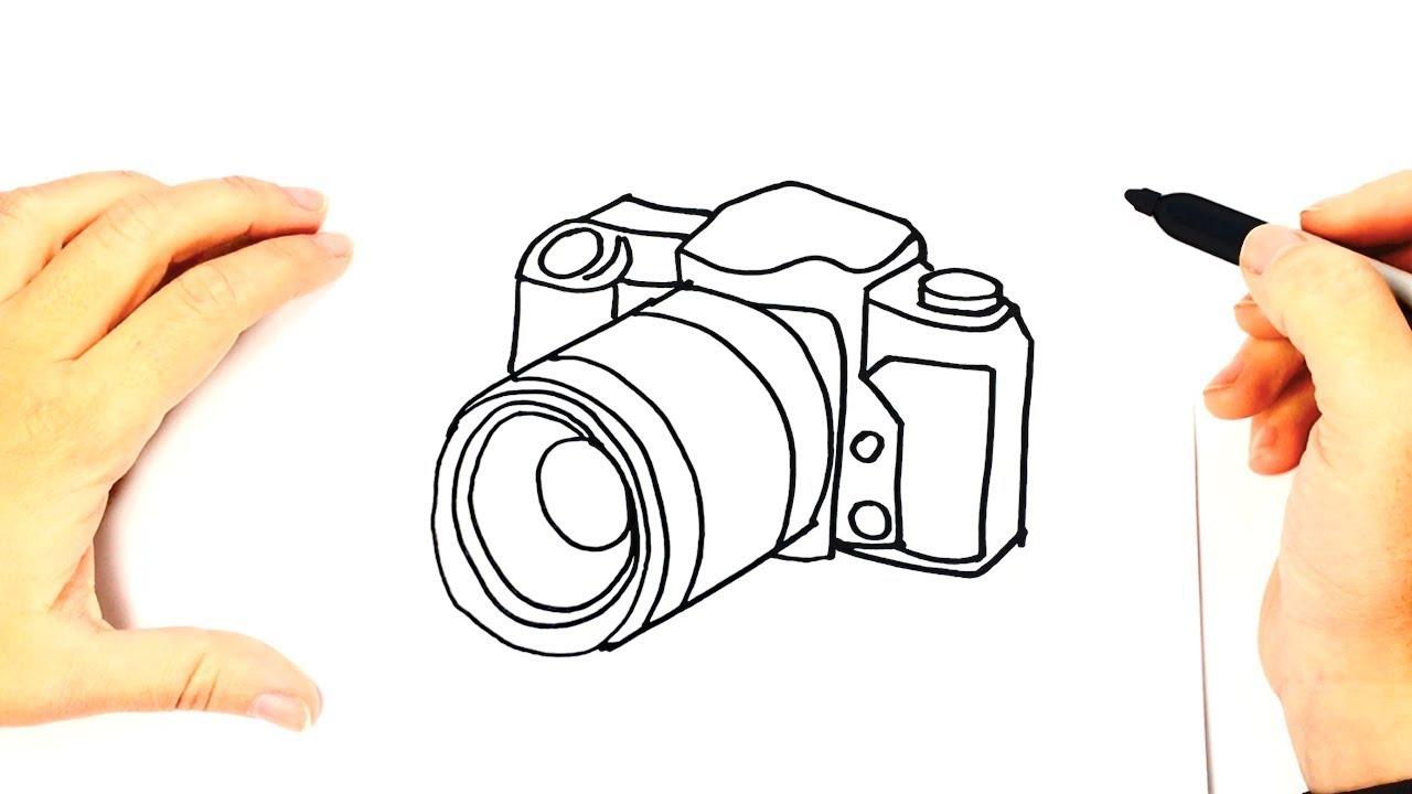 Cómo Dibujar Una Cámara De Fotos Paso A Paso Muy Fácil 2021 Dibuja Fácil