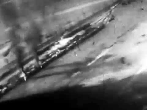 1944-45 Mustang attacks train in Yugoslavia 213 or 249 Squadron RAF