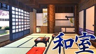 マインクラフト 和風建築で縁側のある家と庭園 #10【和風マイクラ】Minecraft Japanese House & Garden