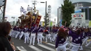 大阪府堺市上神谷地区の地車祭礼、試験曳きの様子です。