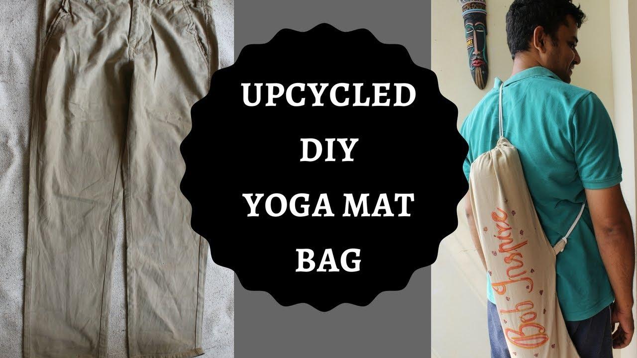 Upcycled Diy Yoga Mat Bag Repurpose Clothing Trash To Treasure Thrifty Youtube