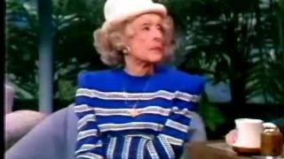 "Bette Davis on ""The Tonight Show Starring Johnny Carson"" (1988)"