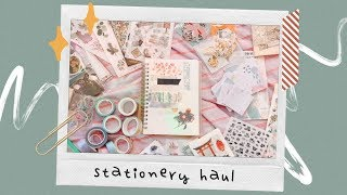 HUGE aliexpress stationery haul ????✨ washi tape, stickers, & more!