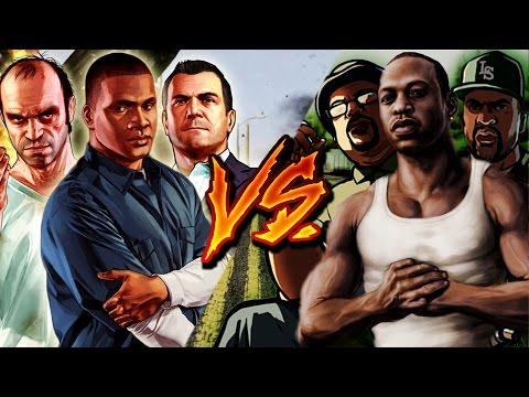 GTA V VS GTA SAN ANDREAS RAP  Ykato Ft Zoiket, DarckStar, RapLion