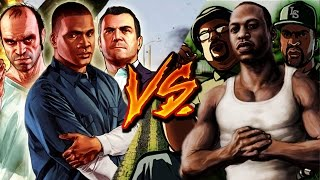 GTA V VS GTA SAN ANDREAS RAP || Ykato Ft. Zoiket, DarckStar, RapLion