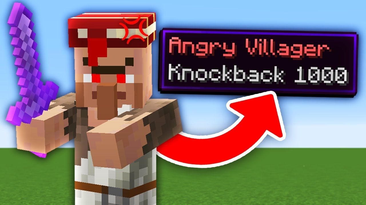 Download Minecraft But Every Mob Is Hostile With Knockback 1,000...