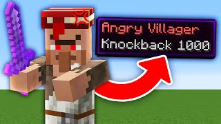 Minecraft But Every Mob Is Hostile With Knockback 1,000...