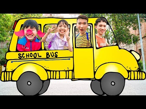 Kids Go to School Learn Colors with Wheel on The Bus! Color Song Nursery Rhymes