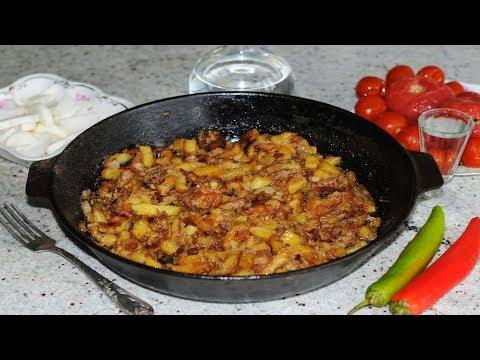 Как пожарить картошку с тушенкой