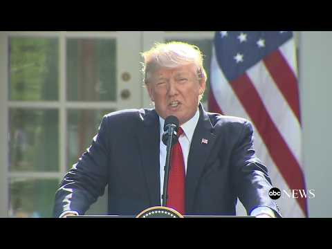 President Donald Trump delivers remarks with Indian Prime Minister Modi in the Rose Garden