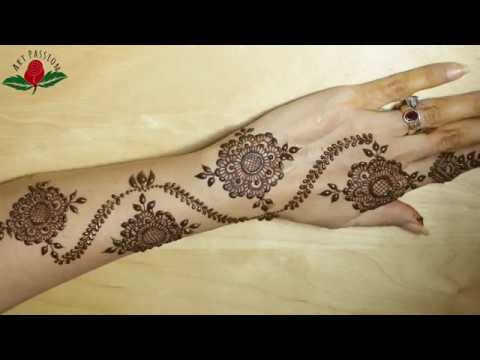 Party Mehndi Red Cone Ingredients : Easy simple stylish mehndi design for hand all occasions youtube
