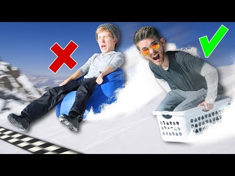 Random Objects Sled Race!!