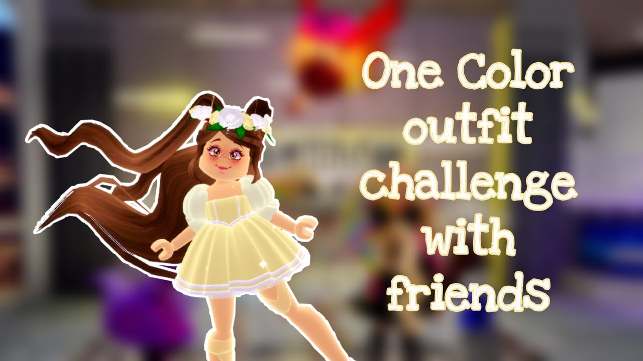 I Tried The One Color Outfit Challenge In Royale High Roblox One Color Outfit Challenge With Friends Roblox Royal High Youtube