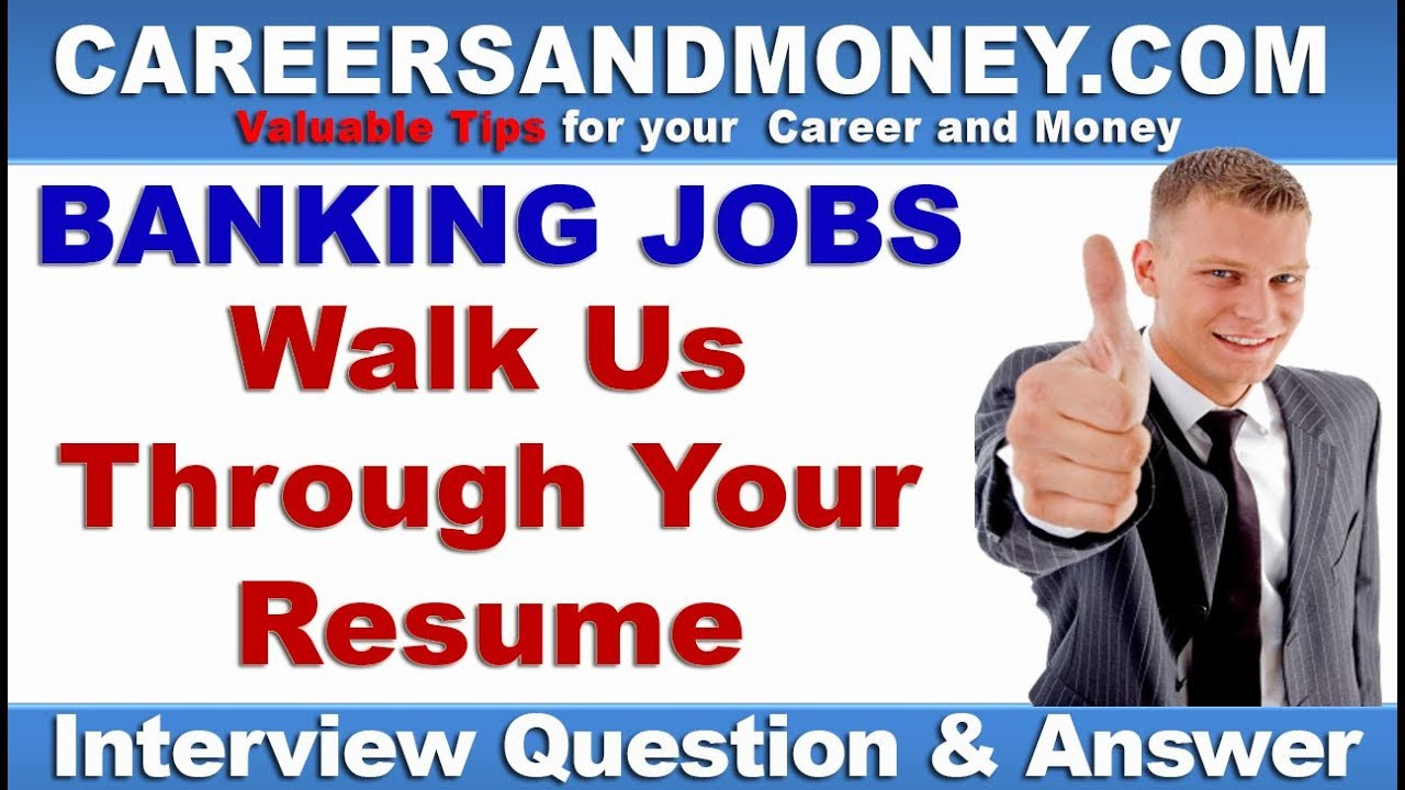 tell us something about yourself or walk us through your resume