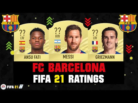 FIFA 21 | FC BARCELONA PLAYER RATINGS! 😱🔥| FT. MESSI, ANSU FATI, GRIEZMANN... Etc