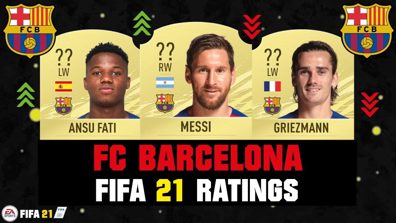 Fifa 21 Fc Barcelona Player Ratings Ft Messi Ansu Fati Griezmann Etc Youtube