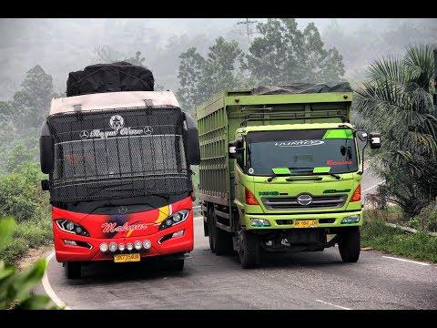 Kompilasi Aksi Sopir Bus LINTAS SUMATRA
