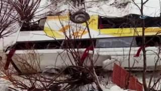 Muşta Feci Kaza! Otobüs Dereye Uçtu: 6 ölü, 20 Yaralı