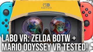 Switch Labo VR: Zelda Breath of the Wild + Mario Odyssey VR modes tested!