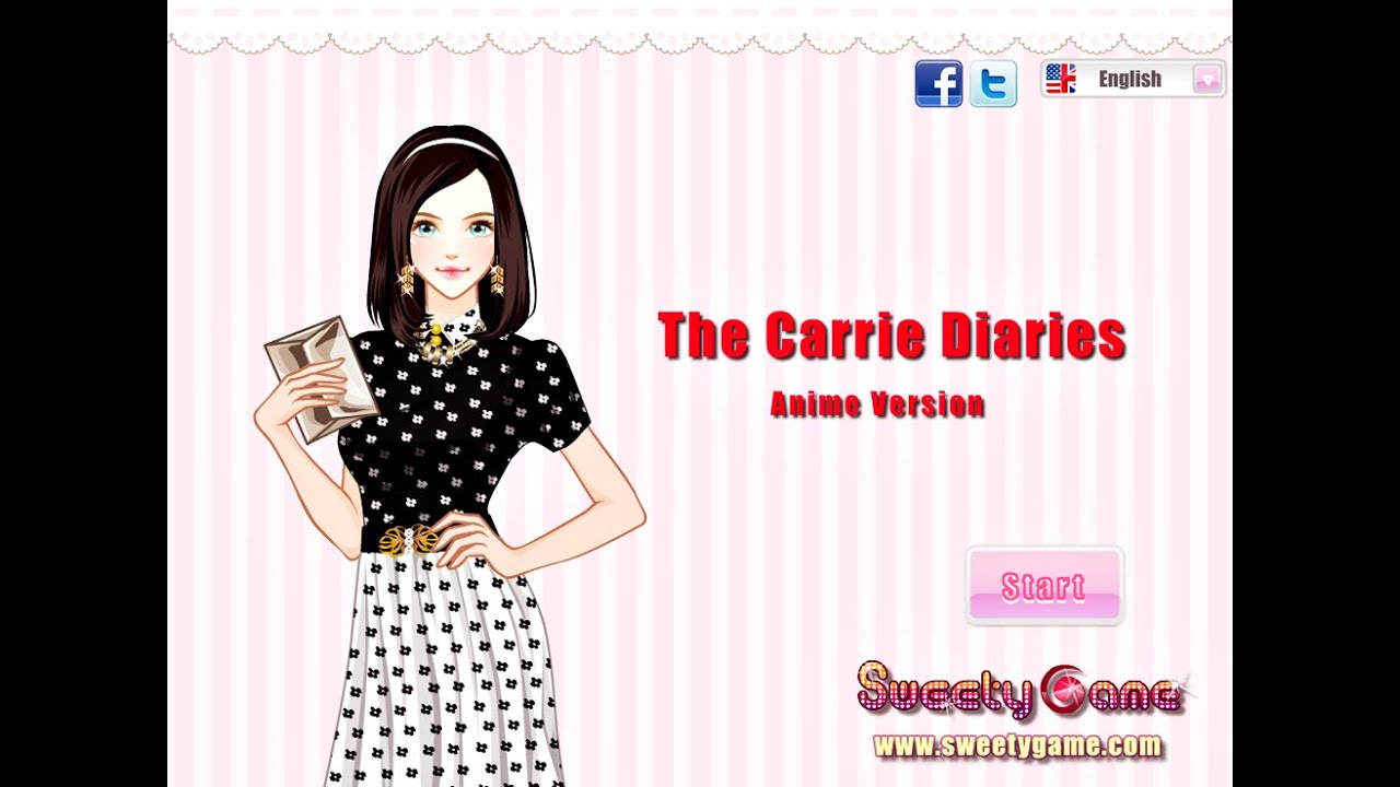 The carrie diaries anime version online dress up fashion games for girls teens