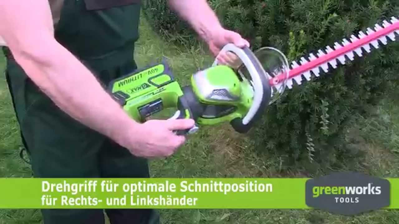 Greenworks akku heckenschere 40v jetzt bei zgonc youtube