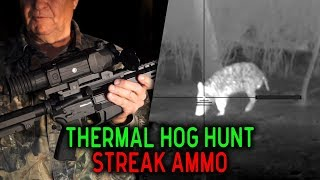.45 ACP Thermal Hog Hunt with Tracer Bullets   CMMG & Streak Ammo