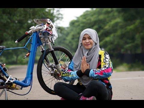 BAROKALLOH..!! Joki Hijab Tampil GASS dragbike [ joki cewek ]