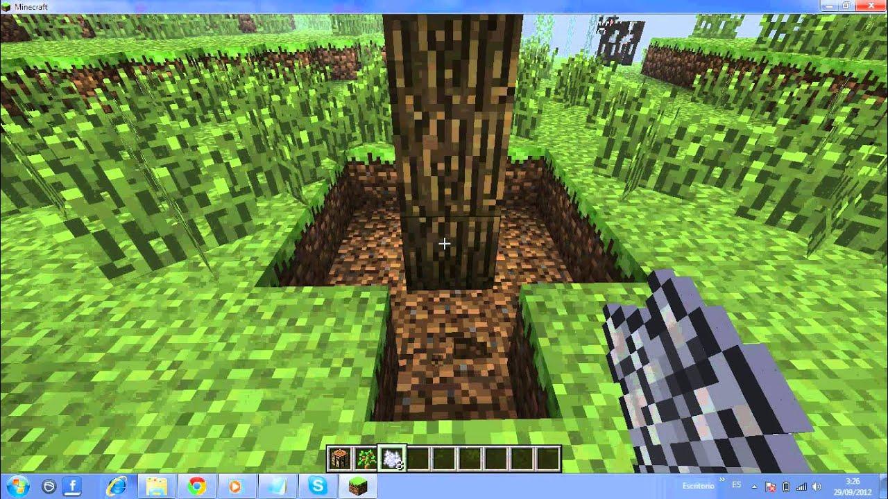como hacer crecer un arbol en minecraft mas rapido