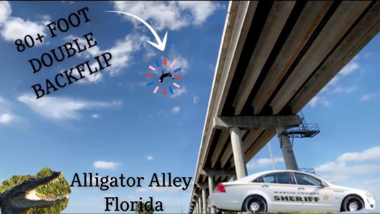 MASSIVE Bridge Jump In Alligator Alley