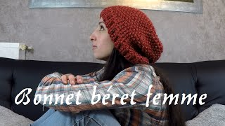 Tricoter un béret femme simple et rapide / DIY knit beret Women