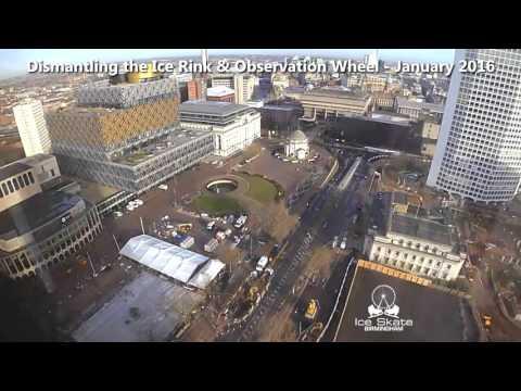 Timelapse Video - Dismantling Ice Skate Birmingham - January 2016