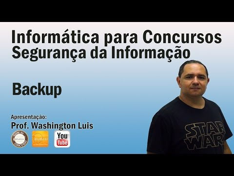 Segurança da Informação - Aula 09 (Backup)