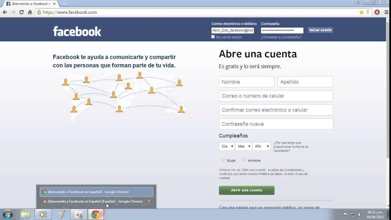 Abrir Nueva Cuenta De Facebook