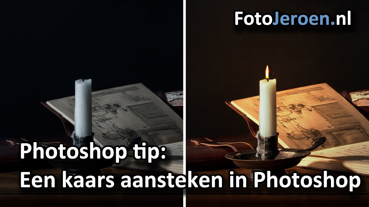 Brandende Kaars Facebook.Een Kaars Aansteken In Photoshop
