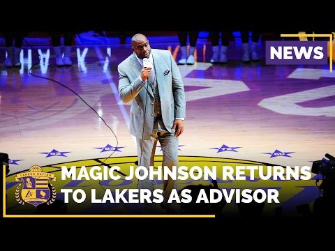 Magic Johnson Returns To Lakers To Advise Team Ownership