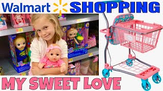 😃Yay! Walmart Trip With Skye! 🛒My Sweet Love Shopping Cart Unboxing & Review!