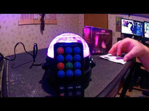 2018 4 12 UnBoxing LED DJ lights Disco Party Ball lights Sound Activated Stage Light