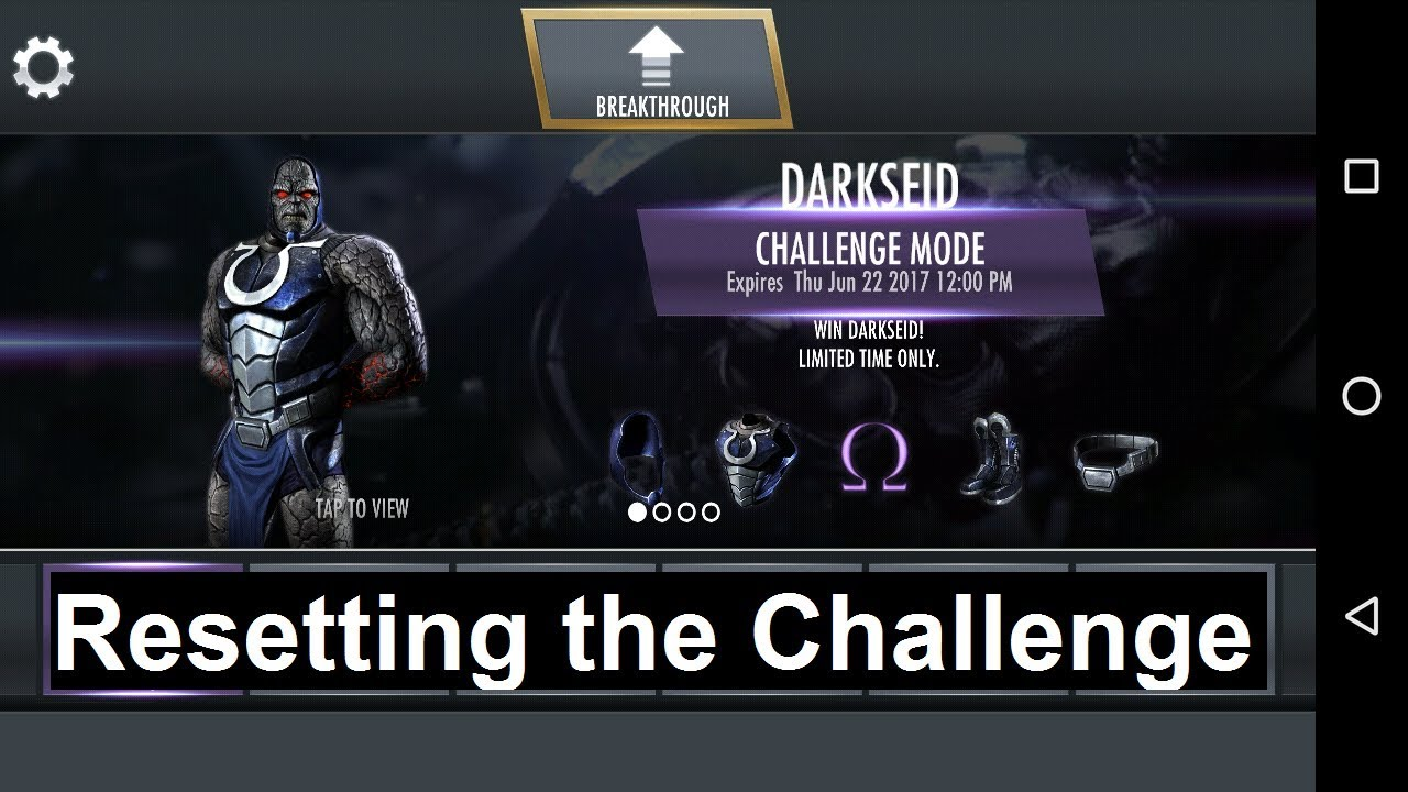 Injustice Mobile Android (glitch): How to Reset the Challenge